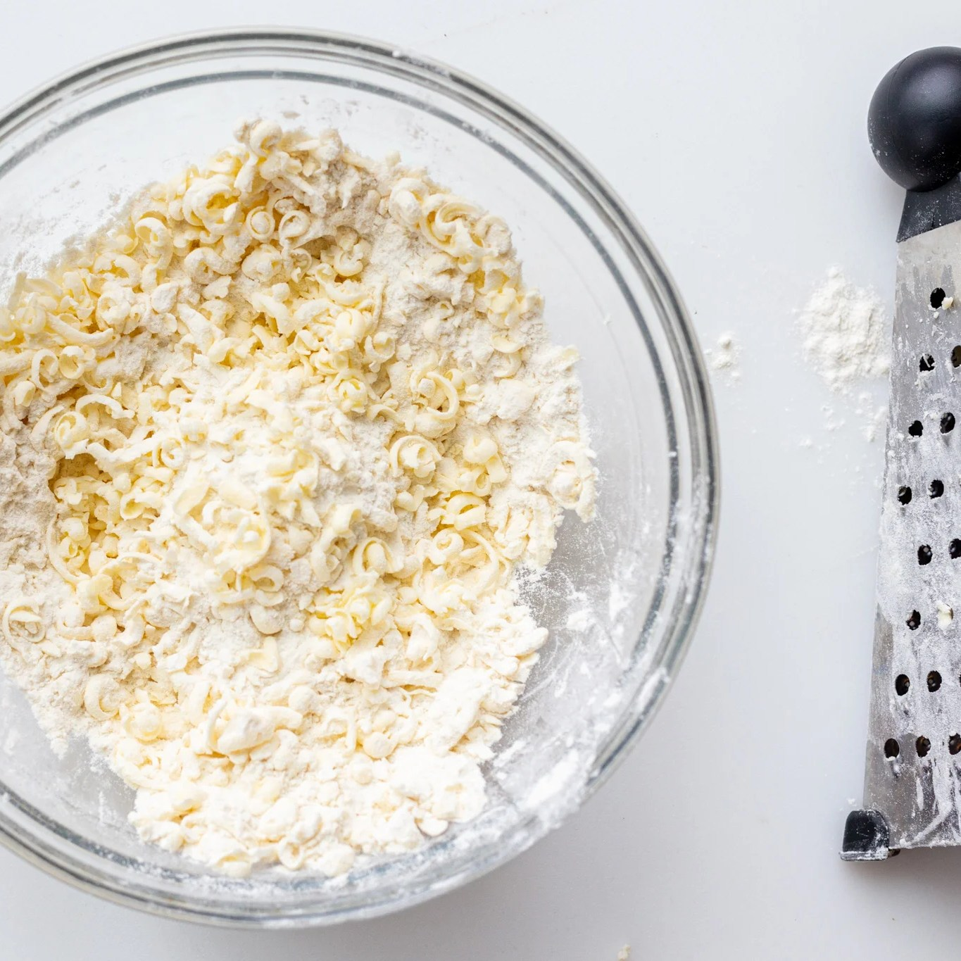 flour and grated butter