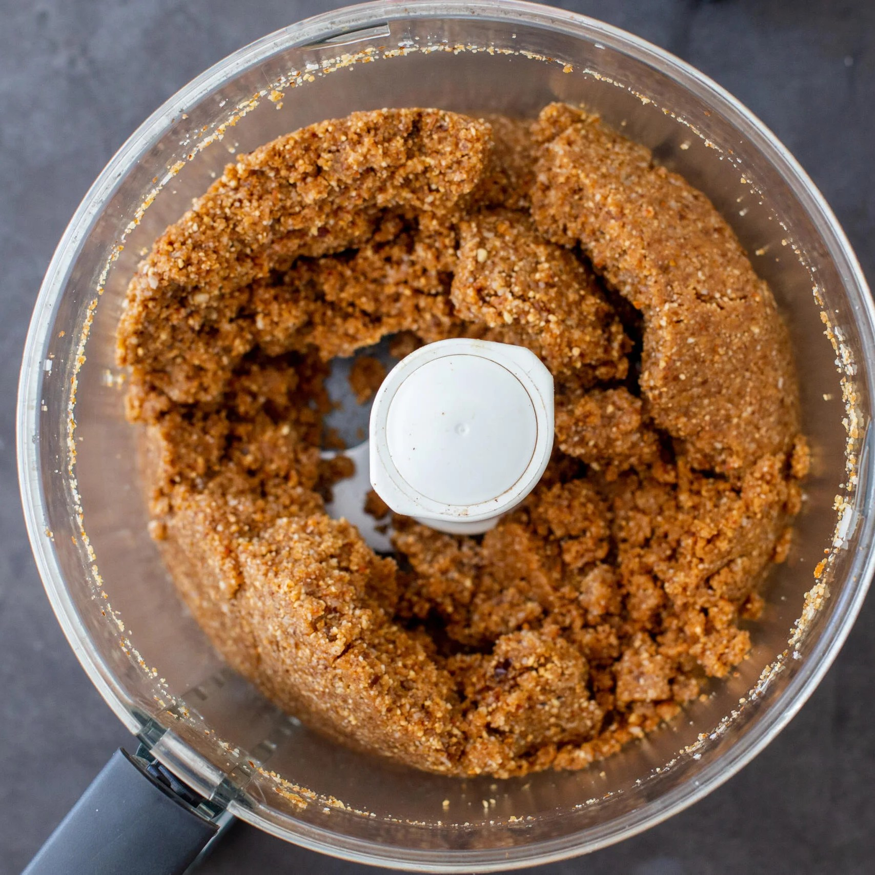 blended ingredietns with sugar free coconut bars