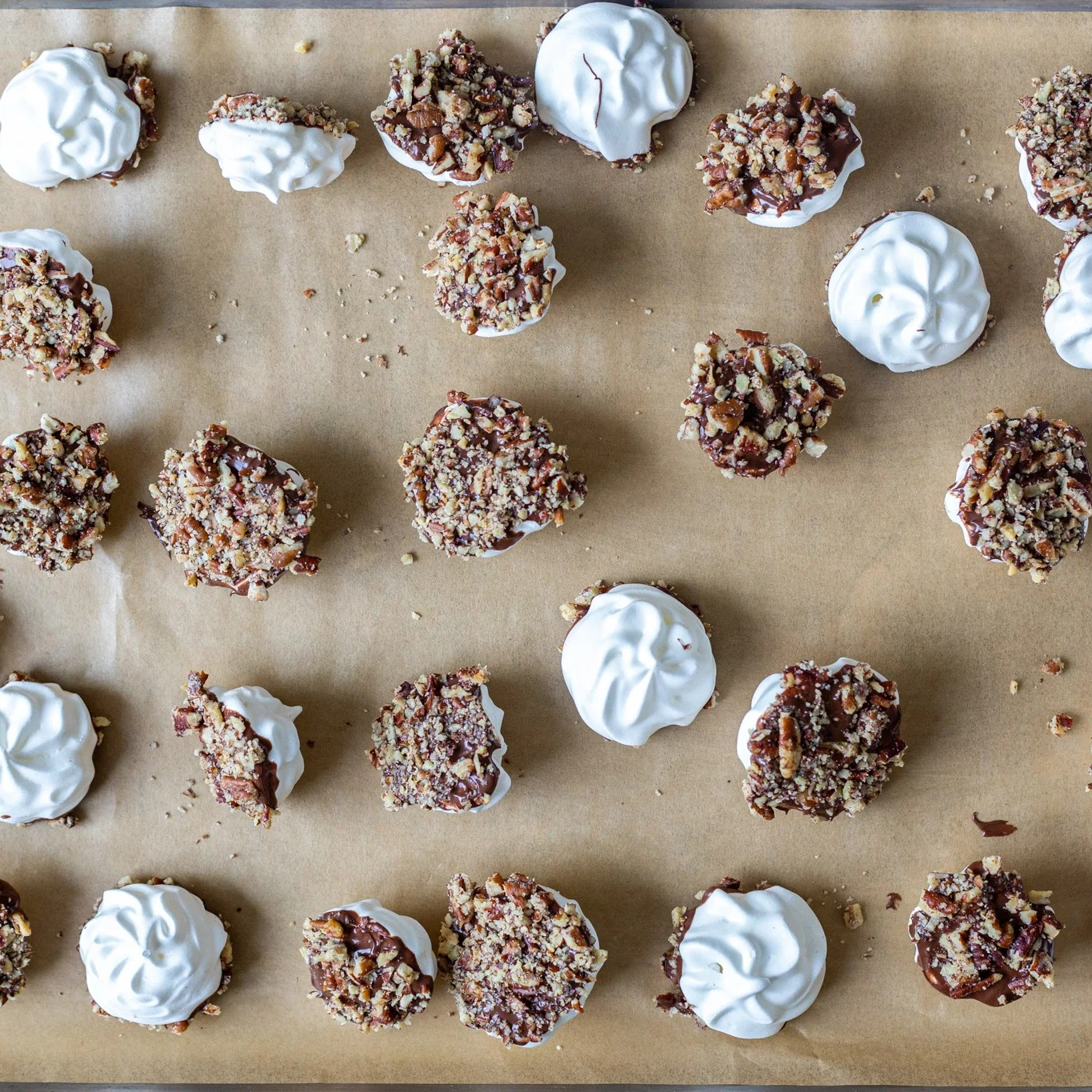 several cookies on a baking sheet