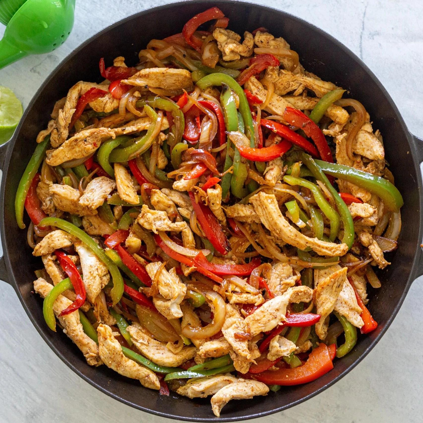 Chicken Fajita in a skillet