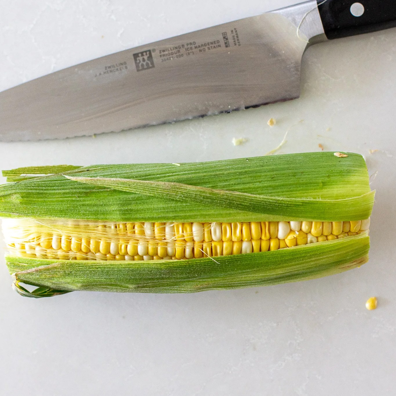 slit ope corn on a cob