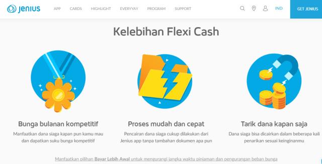 Flexi Cash kelebihannya Berapa Persen Bunga Flexi Cash Jenius Sekarang?