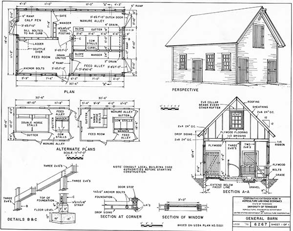 Barn Shed Building Plans