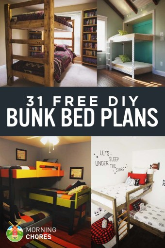 31 DIY Bunk Bed Plans   Ideas that Will Save a Lot of Bedroom Space 31 Free DIY Bunk Bed Plans for Kids and Adults