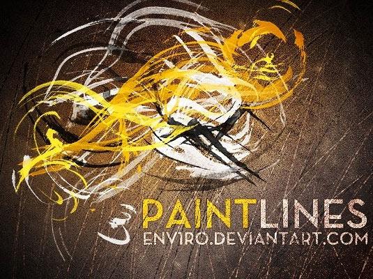 Paint lines Photoshop brushes