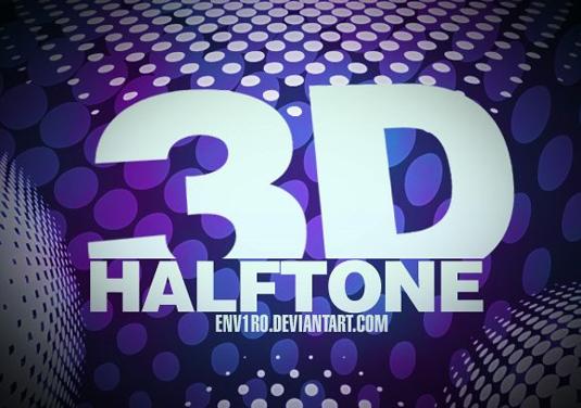 free Photoshop brushes: 3D halftone