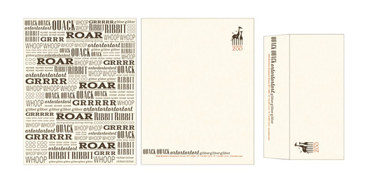 Bronx Zoo letterhead and branded stationery
