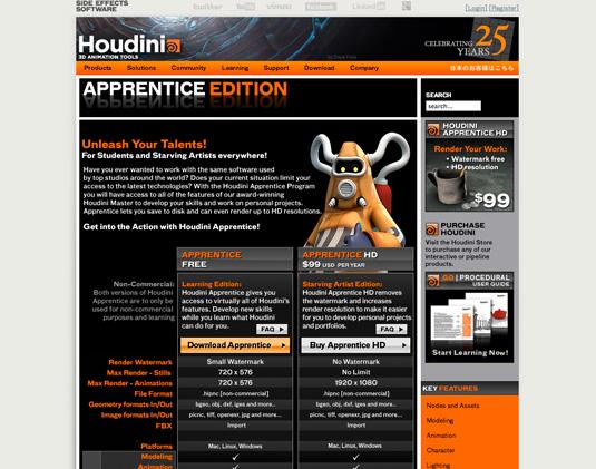 Houdini Apprentice - free graphic design software