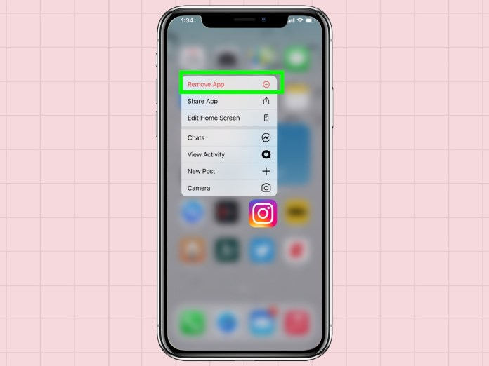 how to delete apps from an iPhone: select remove app