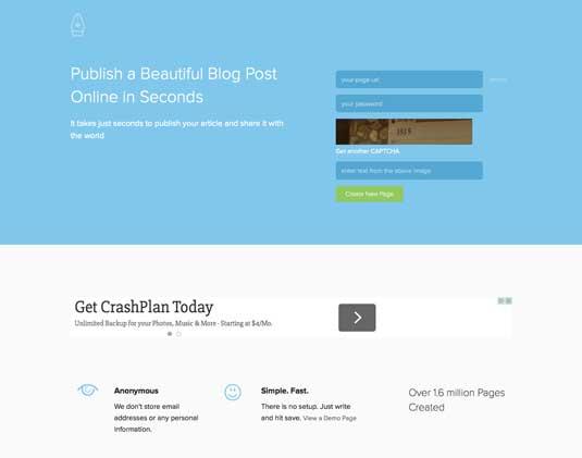 Best blogging platforms: Pen.o