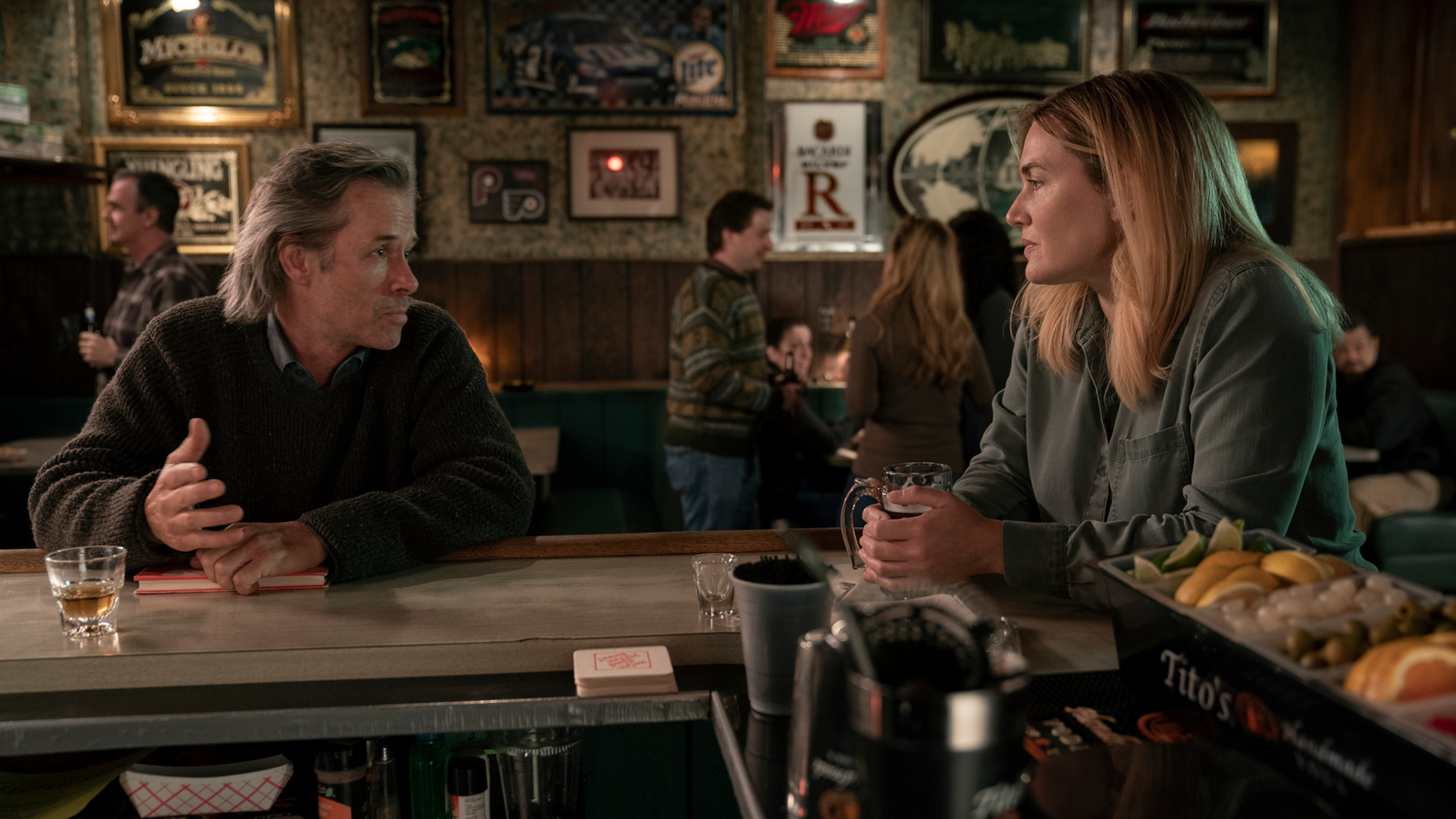 Mare of Easttown — Kate Winslet and Guy Pearce