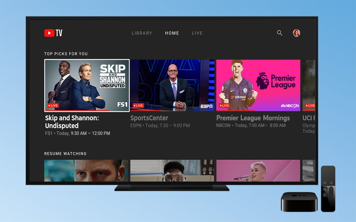Hulu Live vs YouTube TV vs Sling vs AT&T TV - youtube tv top picks