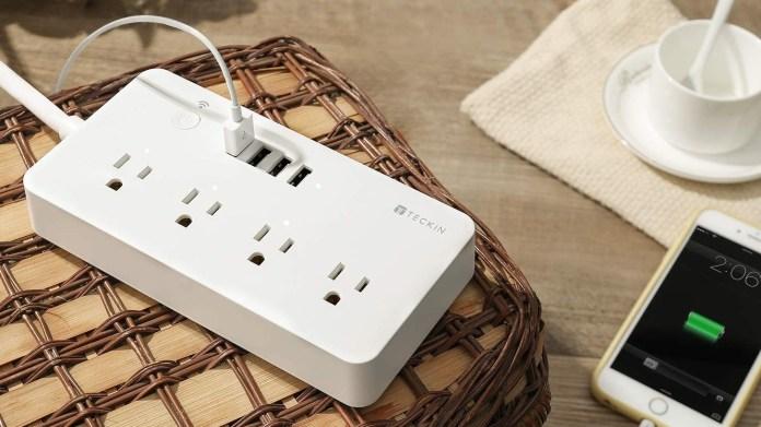 best smart plugs: Teckin Smart Power Strip