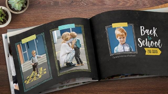 A photobook from Snapfish