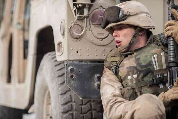 Nicholas Hoult in Sand Castle, one of the best Netflix war movies