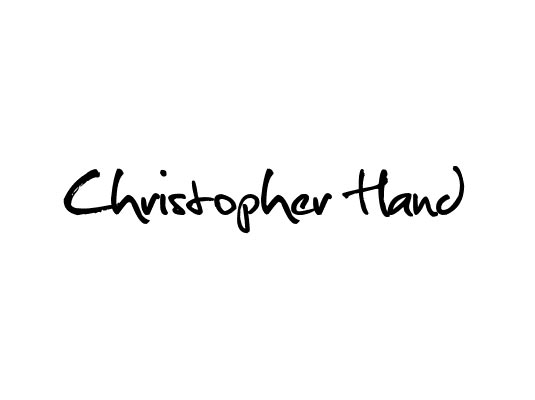 Free cursive fonts: Christopher Hand