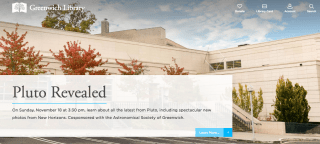 Greenwich Library website WordPress