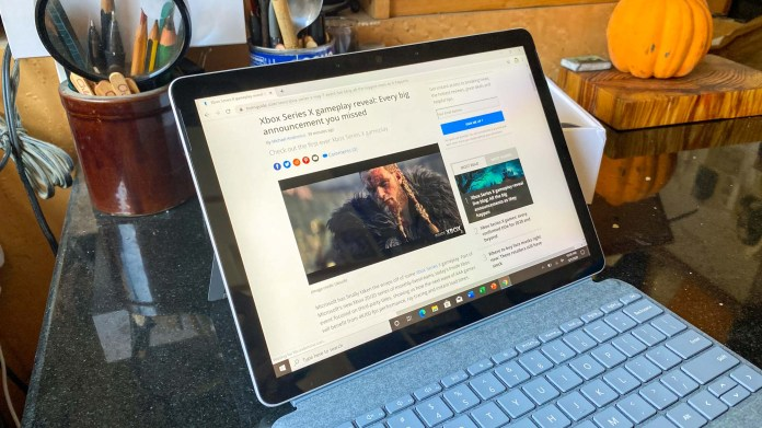 surface go 2 vs ipad: Microsoft Surface Go 2's smaller bezels