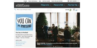 Travel Portland website - built on WordPress