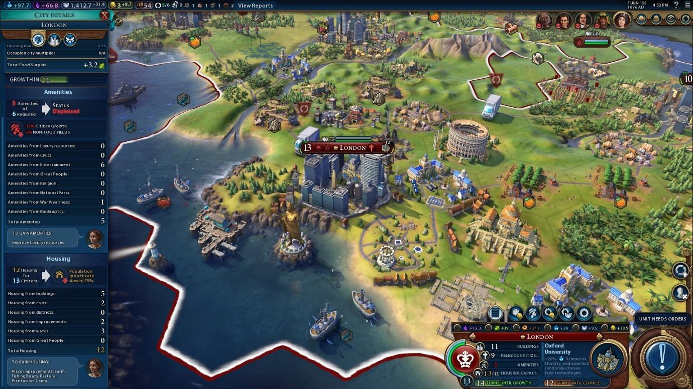What Sid Meier's Civilization VI has to offer is its massive scope.