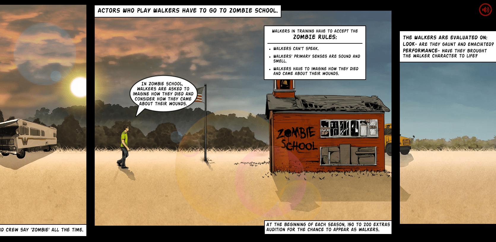 Parallax scrolling websites: Walking Dead