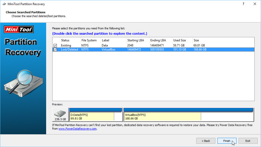 MiniTool Partition Recovery Free