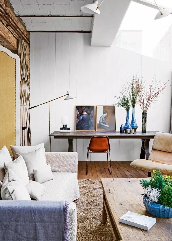 rustic white living room ideas