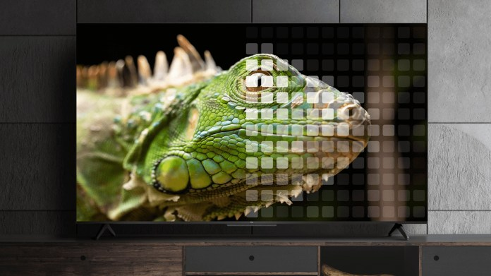 TCL TV with local dimming zones illustrated