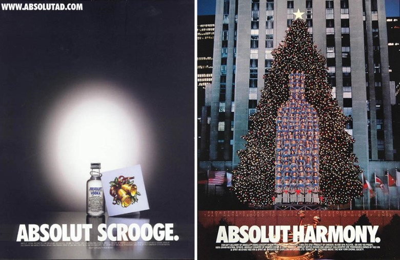 Best Christmas alcohol adverts: Absolut scrooge/ Absolut harmony