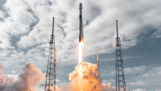 A SpaceX Falcon 9 rocket launches the Transporter-1 rideshare mission with a record 143 small satellites from Space Launch Complex 40 at the Cape Canaveral Space Force Station in Florida on Jan. 24, 2021. The company has delayed the June 25 launch of Transporter-2.