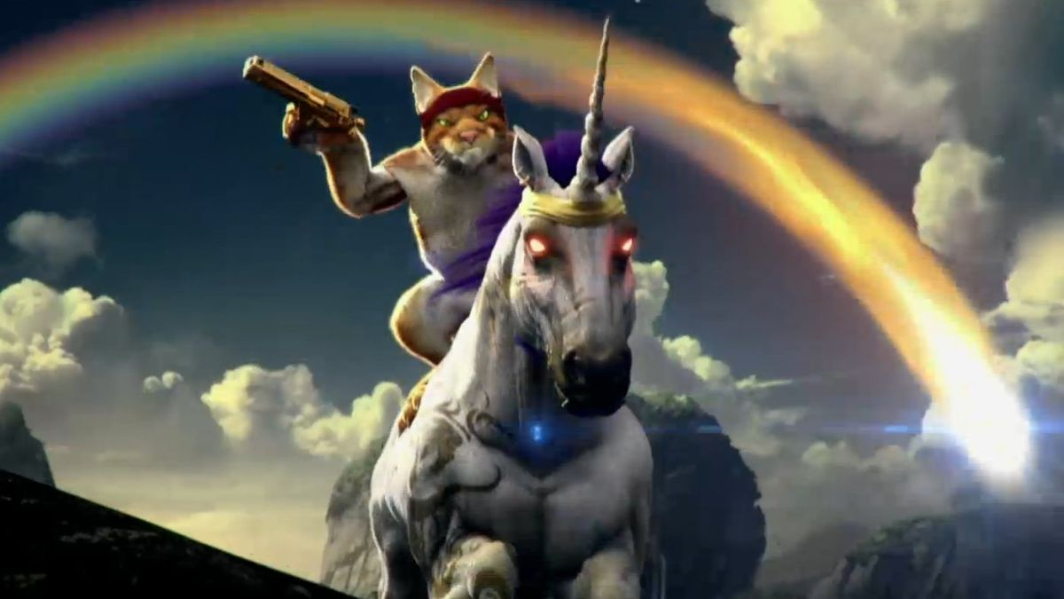 Trials Fusion Expansion Features A Cat Riding A Unicorn