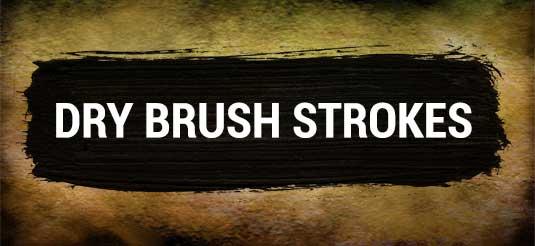 Dry brush strokes Photoshop brush