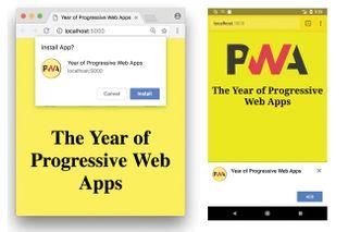 Progressive web apps: installation techniques