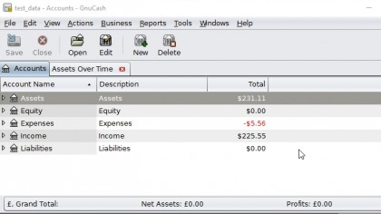 GnuCash is the best free accounting software