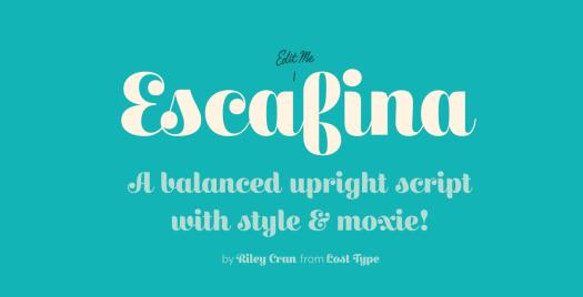 Fun fonts: Escafina