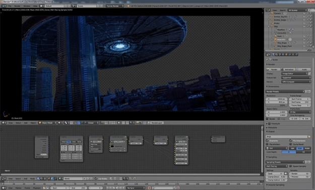 4shUn7rnAdqJey5EKCF5Vh Build a complex 3D sci-fi scene in Blender Random