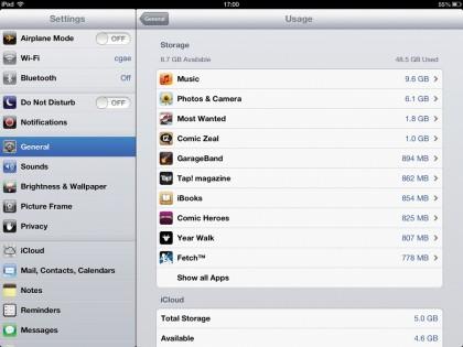 iPad memory