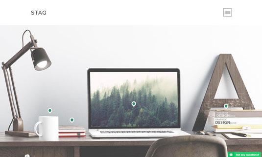WordPress portfolio themes - Stag