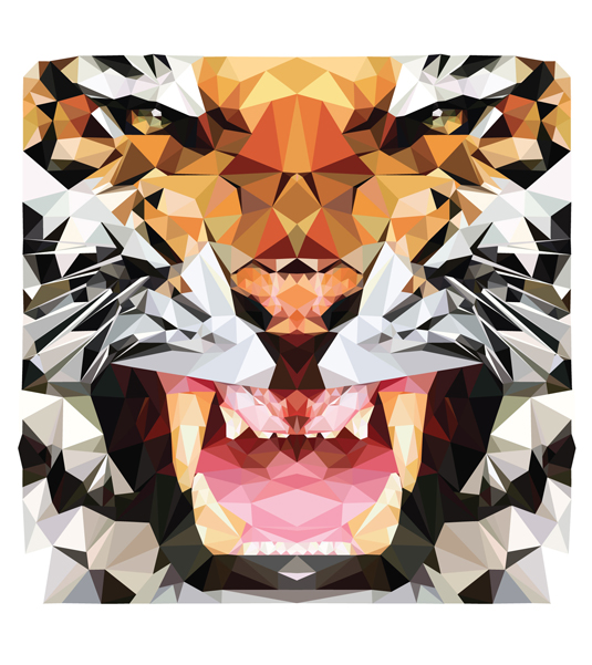 Geometric patterns vector animals
