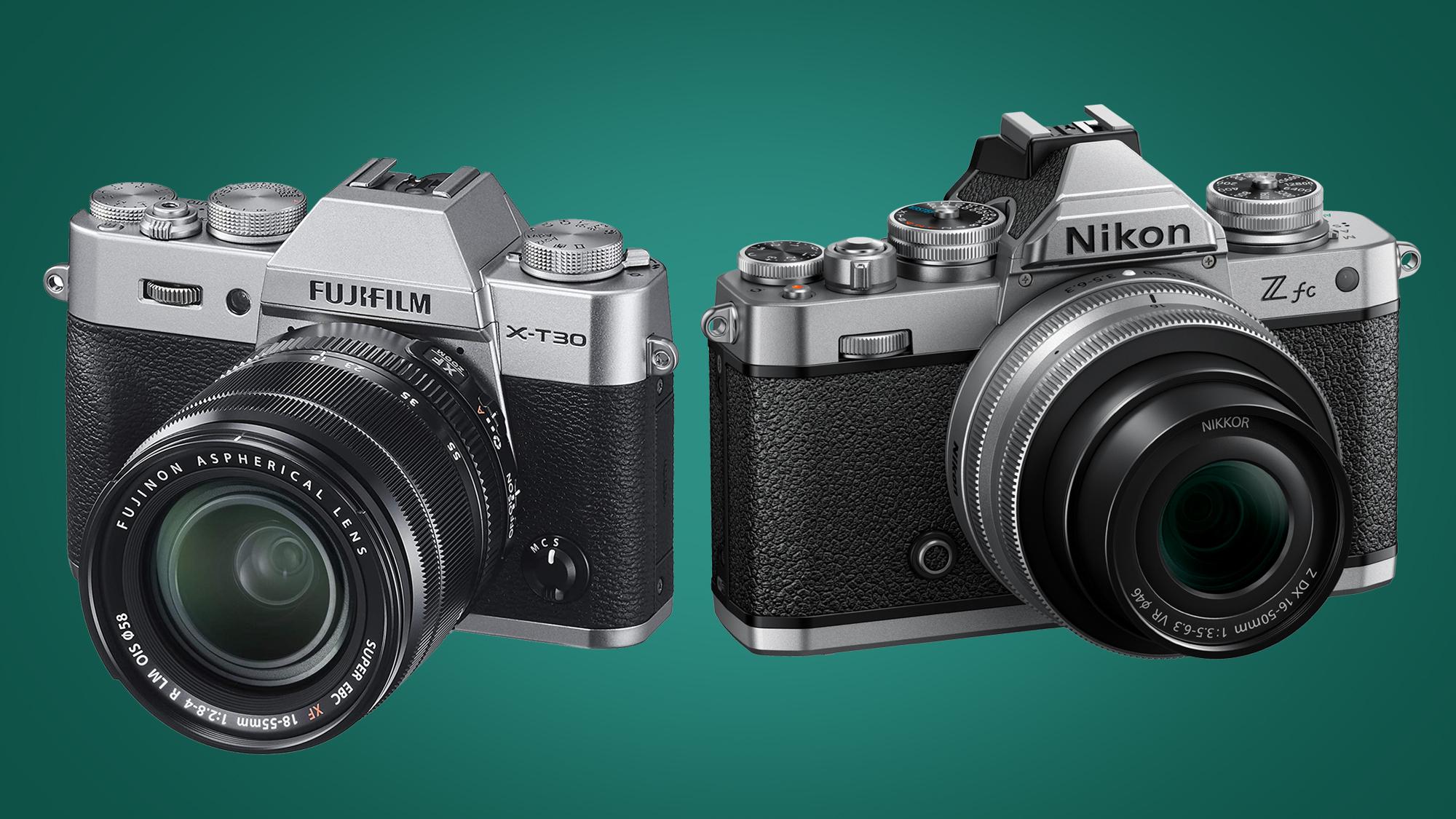 Image showing Fujifilm X-T30 next to Nikon Zfc