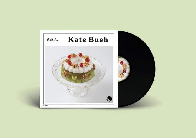Record sleeve of a redesigned Kate Bush album