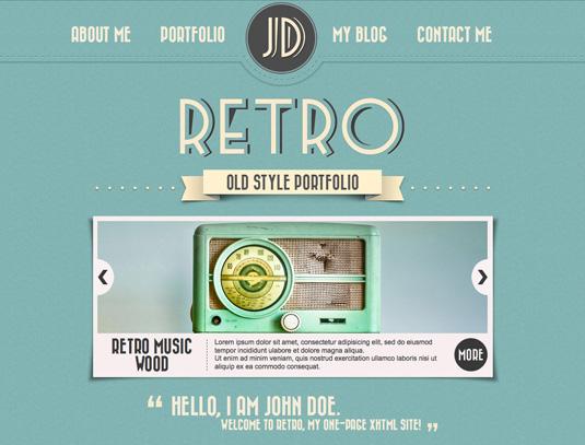 Portfolio WordPress theme - Retro