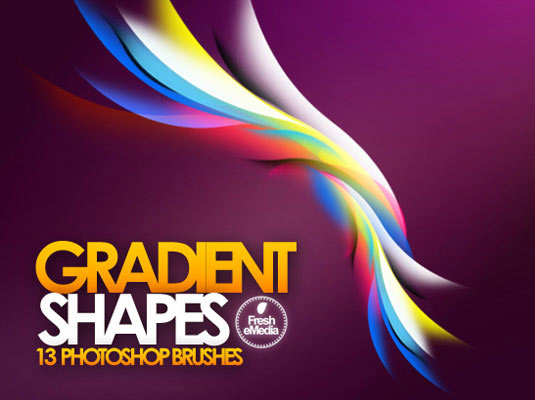 free Photoshop brushes: gradient shapes