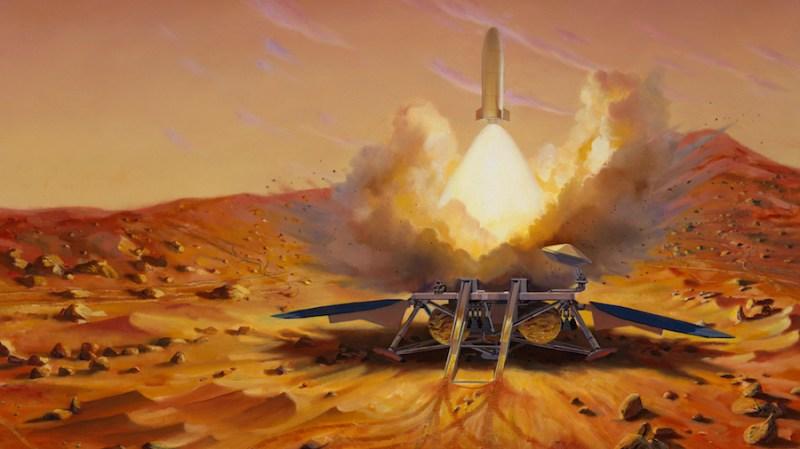Artist's impression of proposed Mars sample return mission