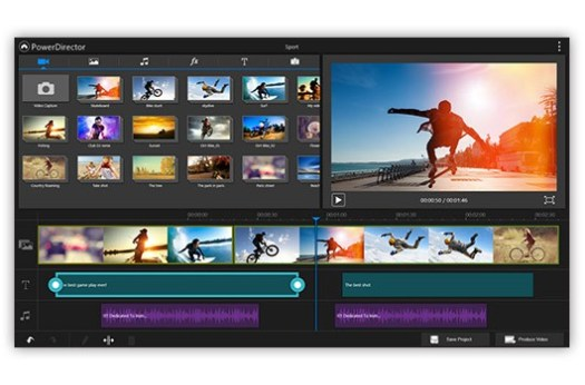 Best video editing apps: Power Director interface