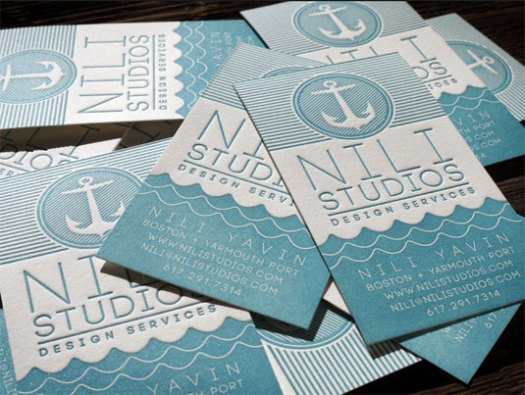 letterpress business cards: Nili Studio