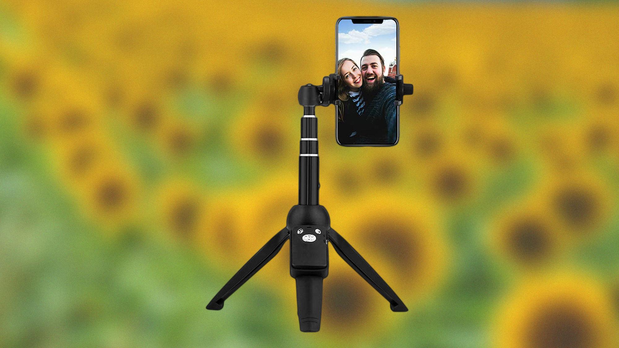 best iPhone tripods: Bluehorn 40-inch selfie-stick tripod