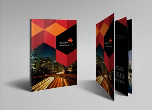 Best brochure templates: Hexagon