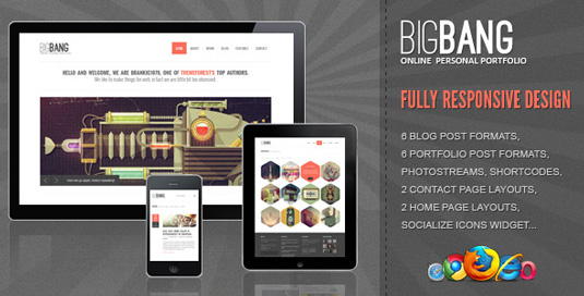 Portfolio WordPress themes - BigBang