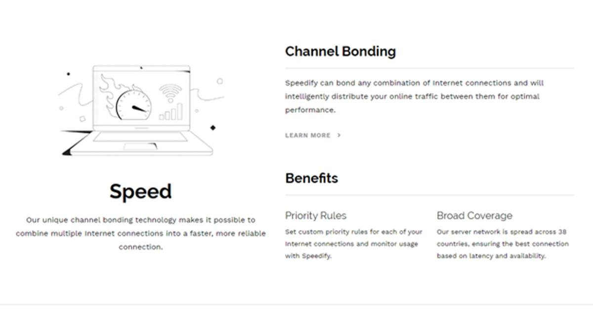 Speedify review - channel bonding
